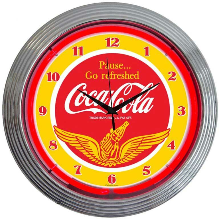 "Drinks 15"" Coca Cola Wings Wall Clock"