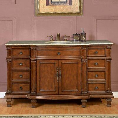 """Bathroom Vanity One Sink silkroad exclusive 72"""" single sink cabinet bathroom vanity set"""