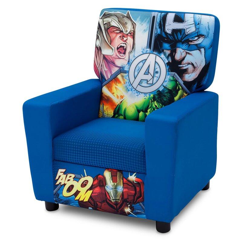 Marvel Avengers High Back Upholstered Kids Club Chair