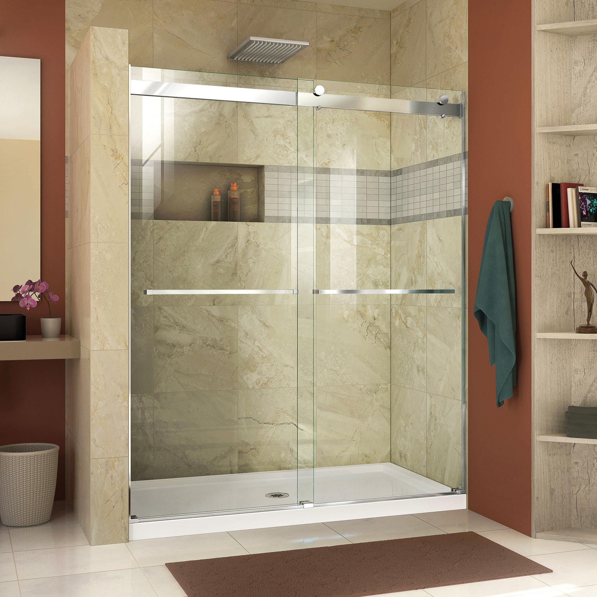 Dreamline Essence 60 X 76 Bypass Semi Frameless Shower Door With