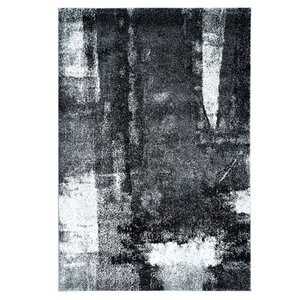 Ashleigh Unique Black/Gray Area Rug