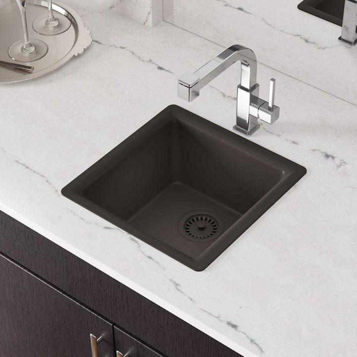 """Kitchen Faucets Canada Shipping Cambria Quartz: Elkay Quartz Luxe 16"""" X 16"""" Top Mount Bar Sink & Reviews"""