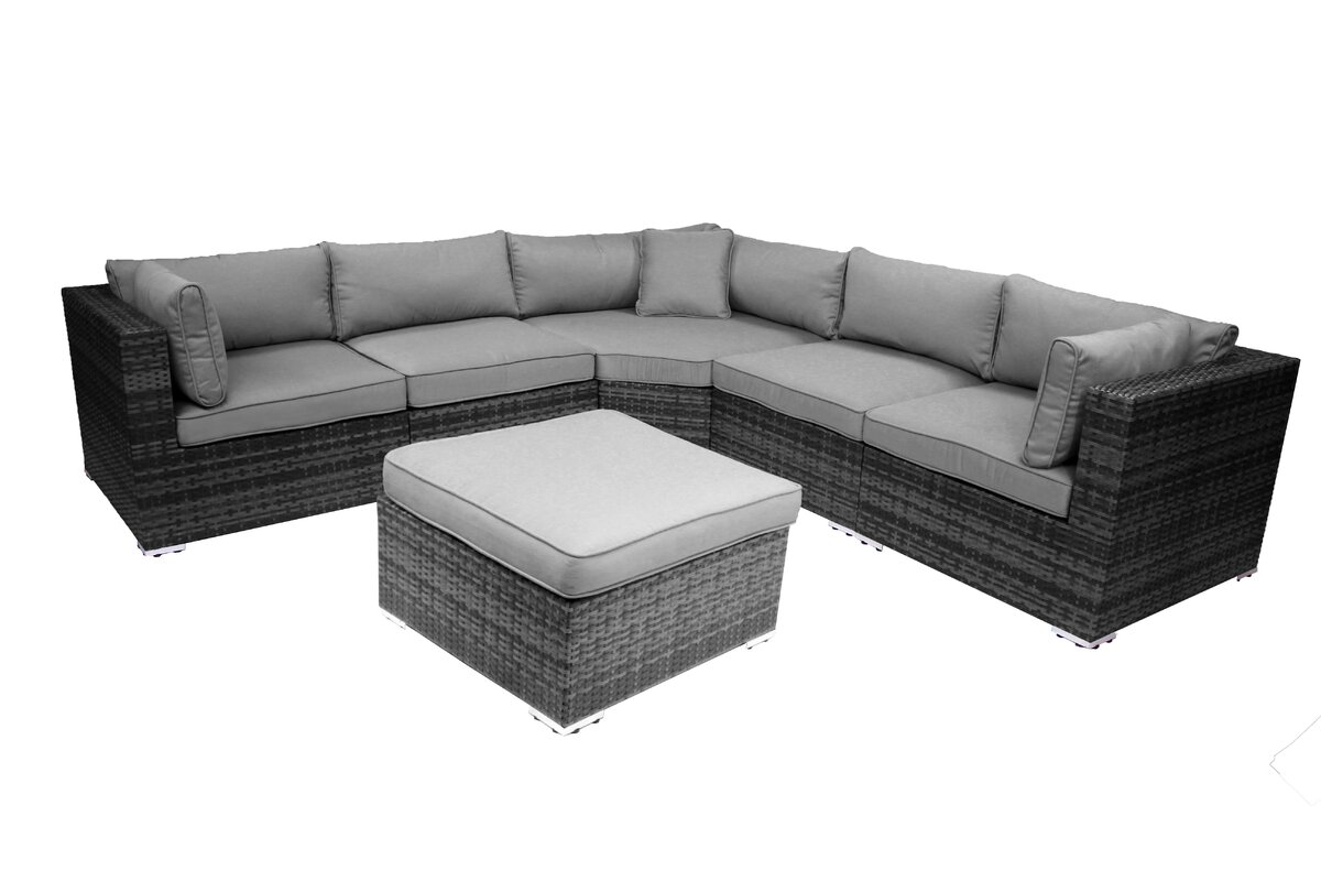 India 6 Piece Sectional Group with Cushion  sc 1 st  Wayfair : 6 piece sectional - Sectionals, Sofas & Couches