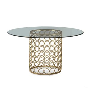 Modern Glass Dining Tables AllModern - 52 inch round glass dining table