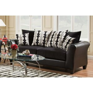 Wallie Dempsey Black Sofa by Latitude Run