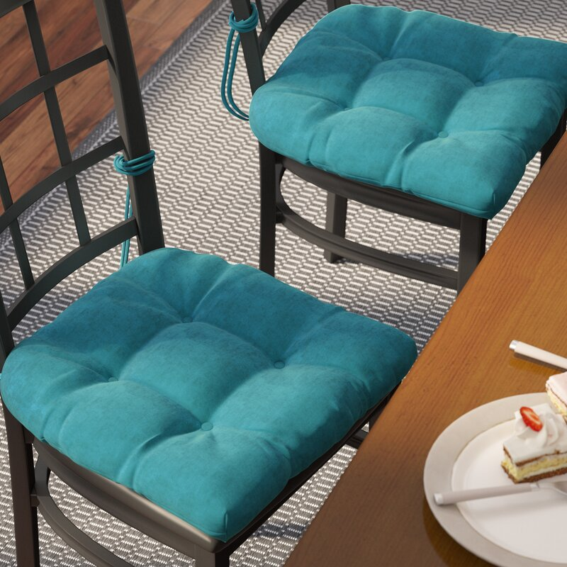Microsuede Fabric Dining Chair Cushion