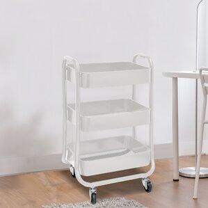 Metallic Rolling Storage Cart