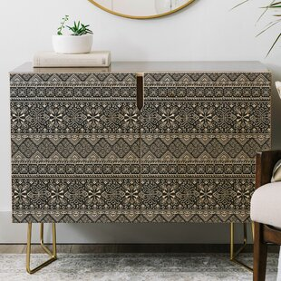 Heather Dutton Grand Bazaar Slate Linen Credenza