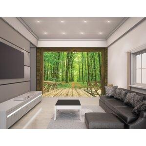 living room wall murals. Woodland Forest 10  x 96 Wall Murals You ll Love Wayfair