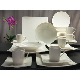 Pure 30 Piece Dinnerware Set,Service For 6
