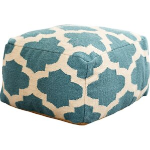 Zahara Lavish Lattice Pouf Ottoman by Latitude Run
