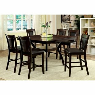 Nevaeh 9 Piece Counter Height Solid Wood Dining Set