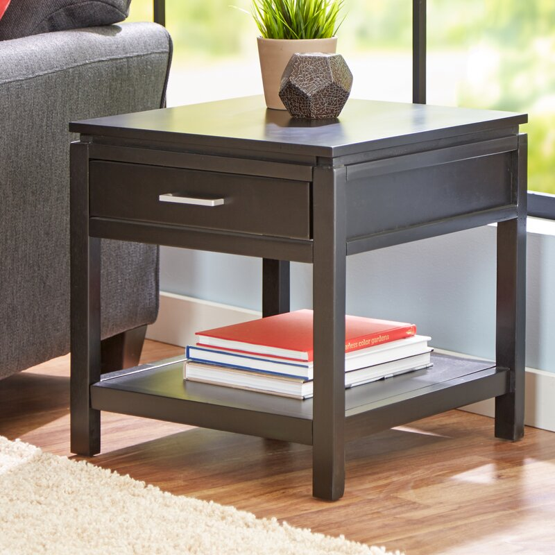 Amazing Delavan End Table With Storage