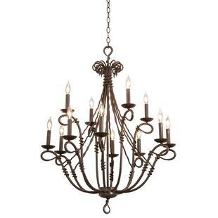 Vine chandelier wayfair vine 12 light candle style chandelier aloadofball Image collections