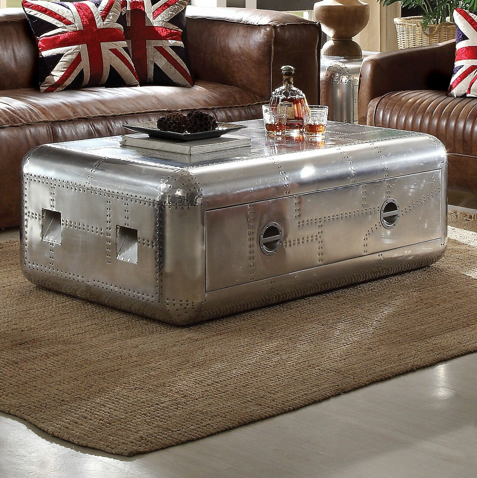 Beau Dunphy Aluminum Coffee Table With Storage