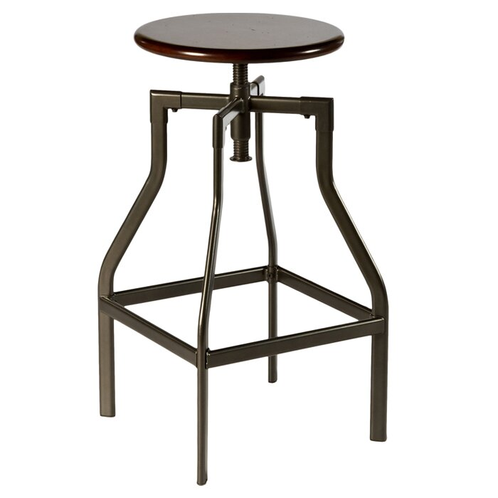 Hillsdale Cyprus Adjustable Height Swivel Bar Stool