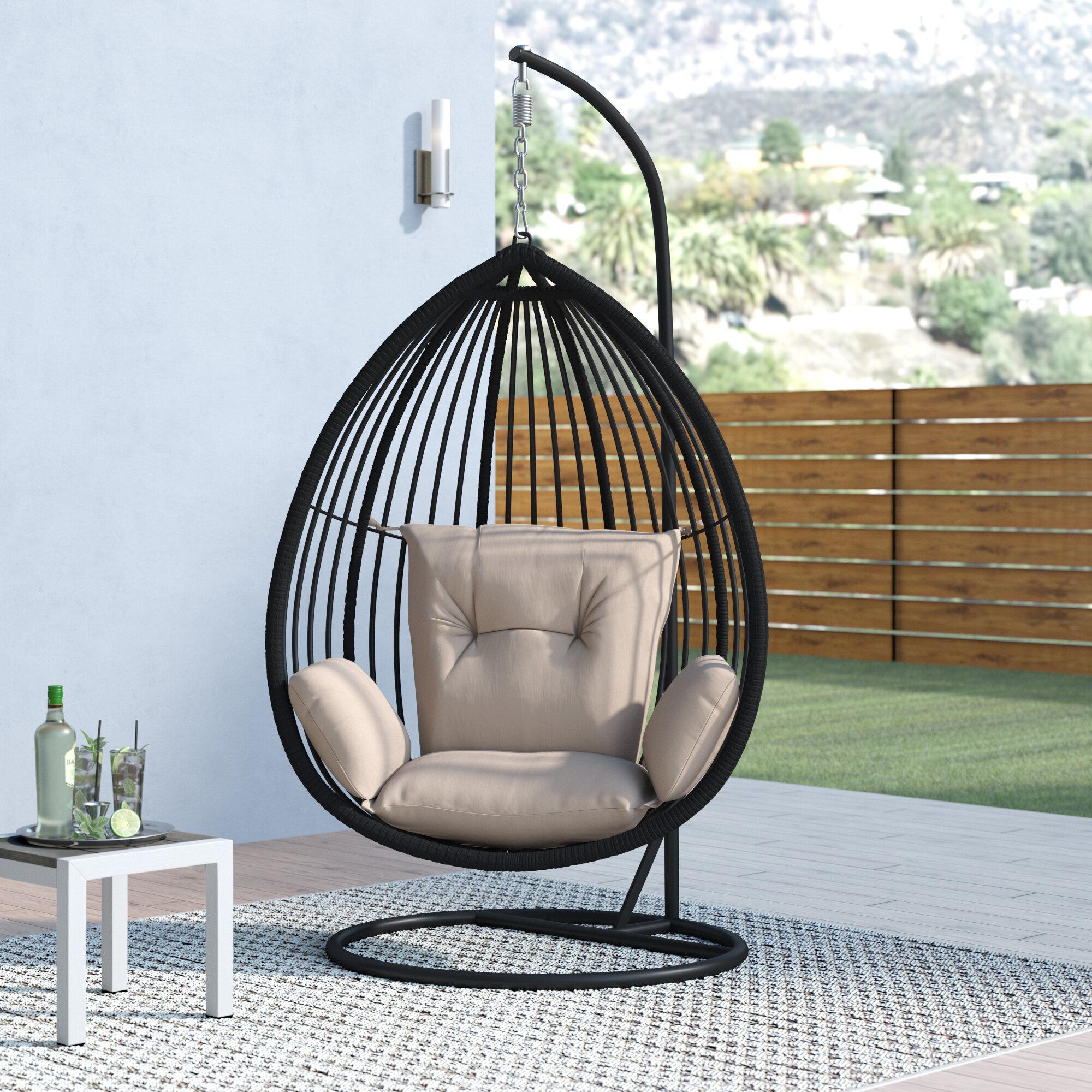 & Orren Ellis Audra Swing Chair with Stand u0026 Reviews | Wayfair