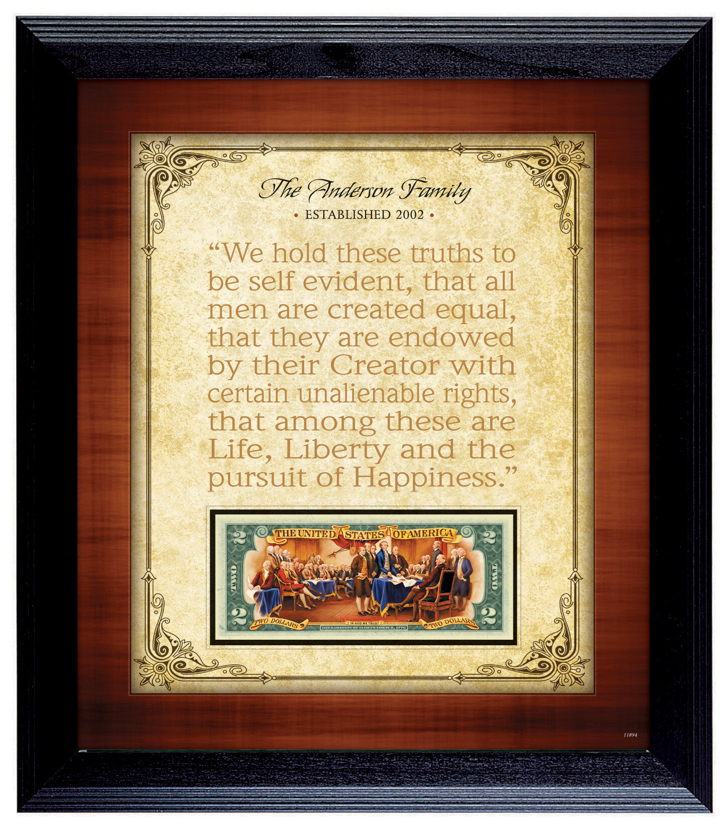American Coin Treasure Personalized Established Family Declaration ...
