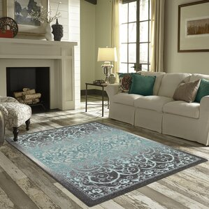 Dixie Gray Blue Area Rug