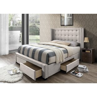 Contemporary King Bed Frame With Storage Decoration