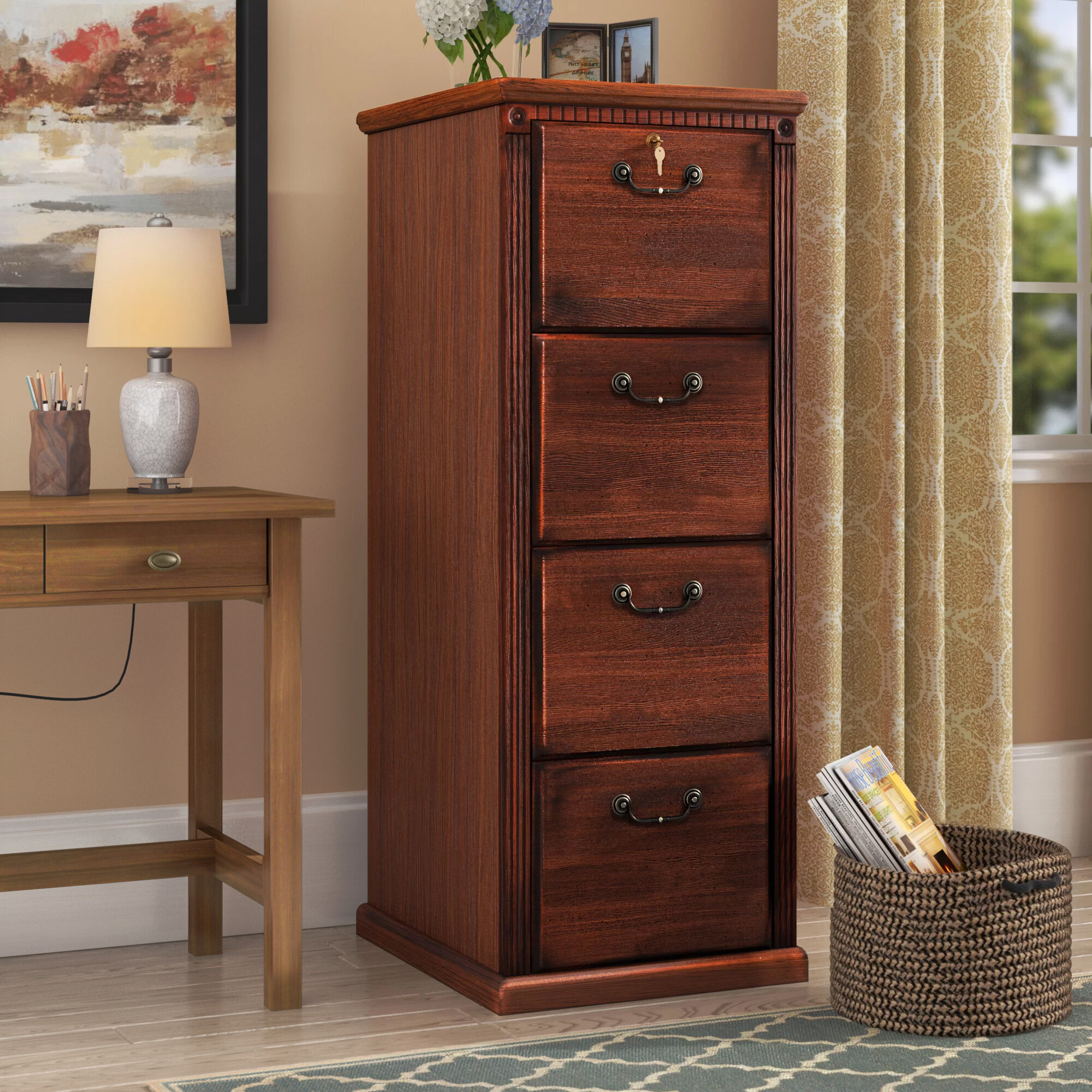 Wood Vertical File Cabinets Home Office Woodworking Plans