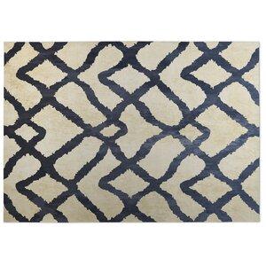 Beige/Blue Indoor/Outdoor Doormat