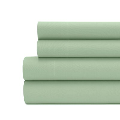 Briarwood Home 100% Cotton Solid Percale Sheet Set Size: California King, Color: Spruce Green