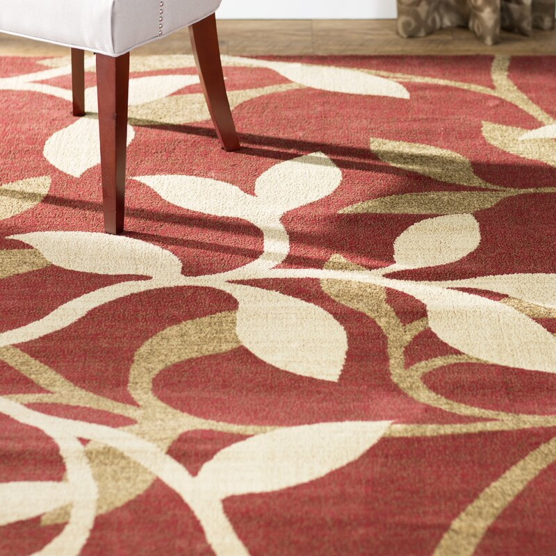 Gaskins Red Area Rug