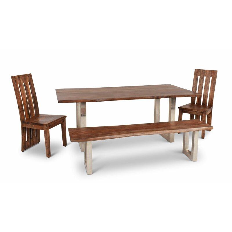 Loon Peak Avelar Solid Wood Dining Table Reviews Wayfair
