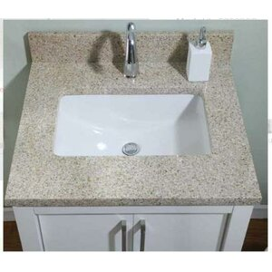 Euro Granite Single Bathroom Vanity Top