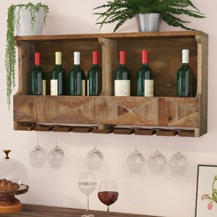 Reclaimed Wood Wine Rack Wayfairca