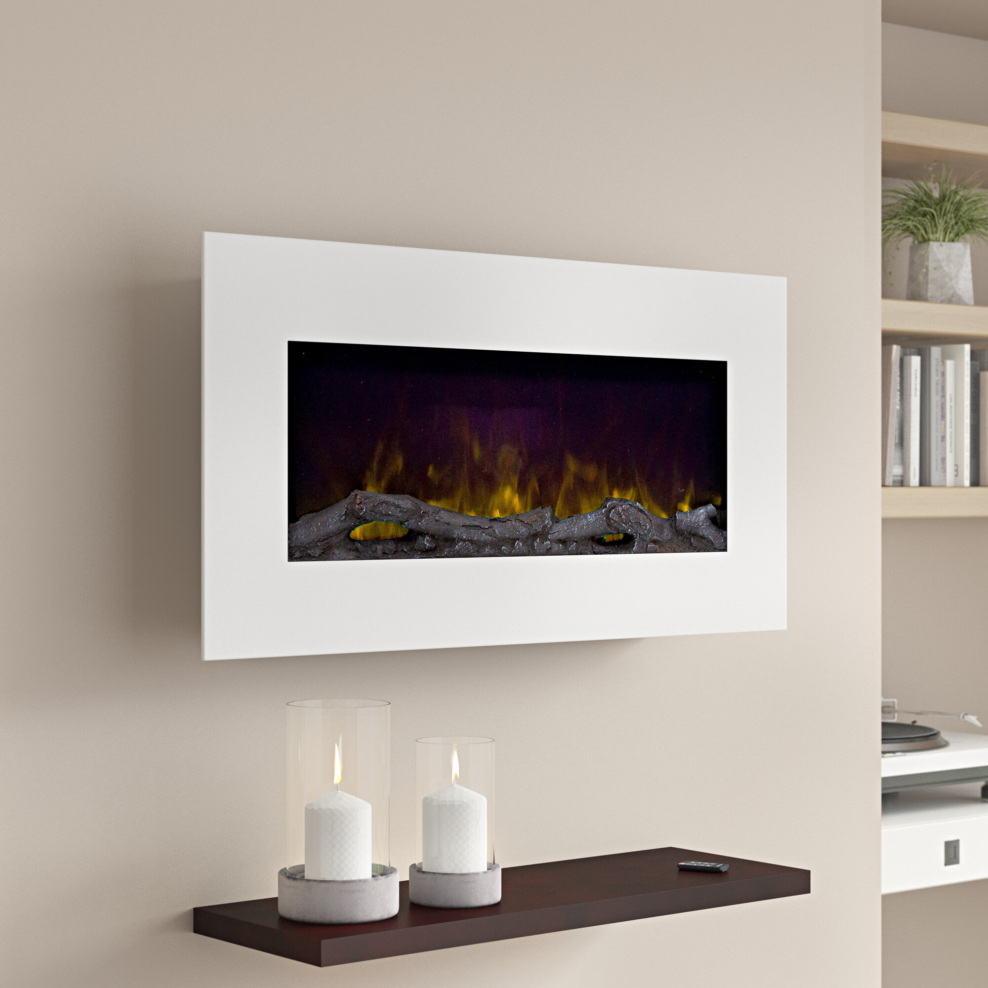 Fine Bedfo Led Wall Mounted Electric Fireplace Interior Design Ideas Gentotthenellocom