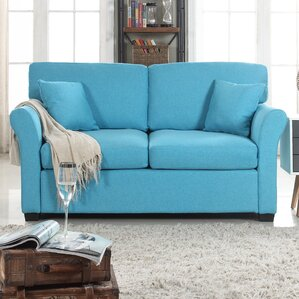 Horvath Classic Linen Loveseat by Latitude Run
