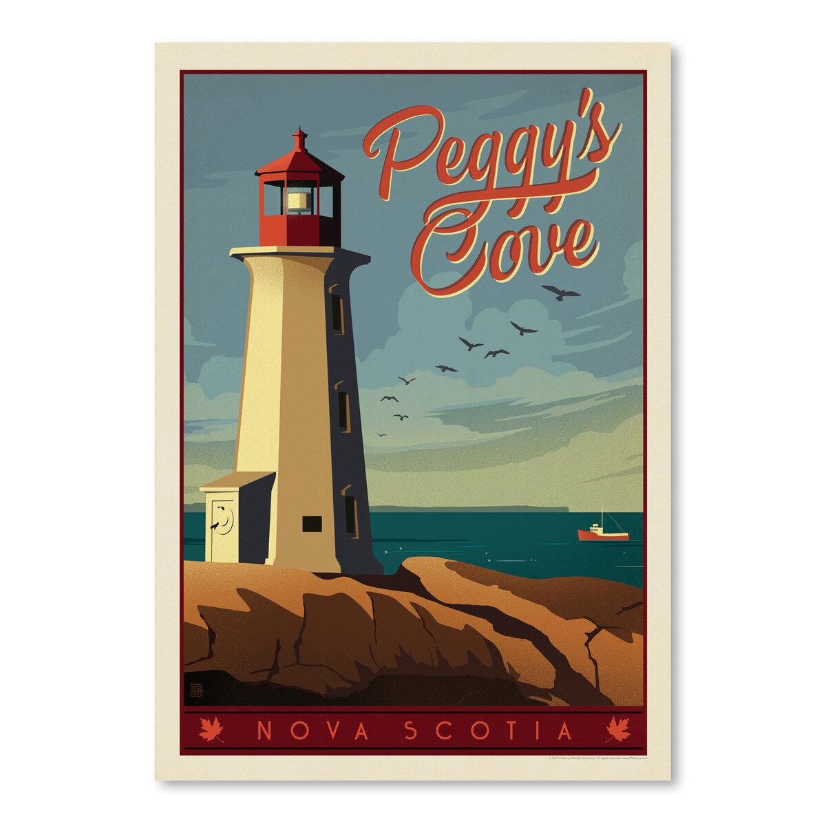 East Urban Home Canada Peggys Cove Graphic Art Print