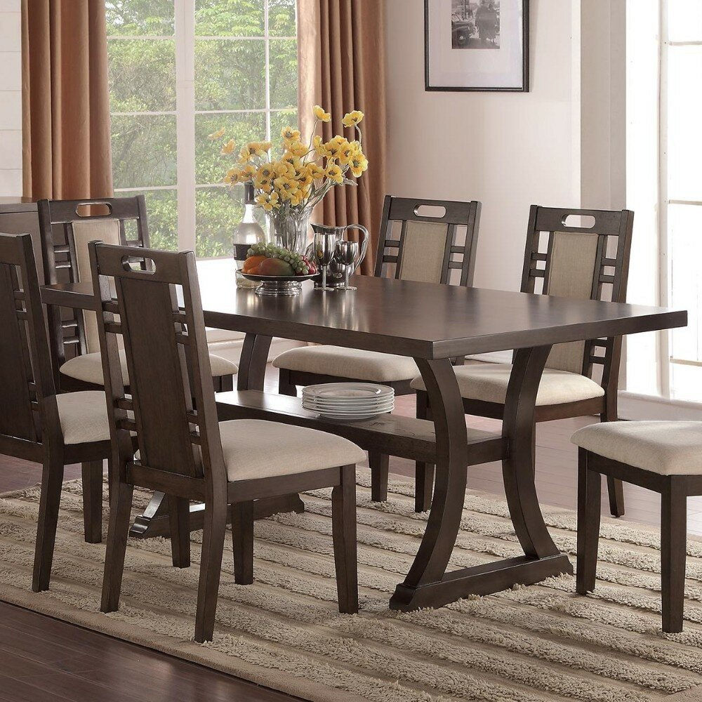 Millwood pines wick somerset rubber wood dining table wayfair