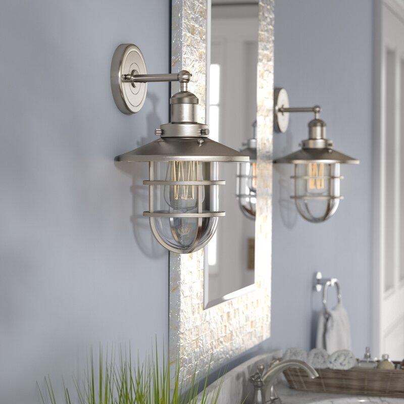 Beachcrest Home Gotha 3 Light Vanity Light Reviews: Beachcrest Home Humphries 1-Light Armed Sconce & Reviews