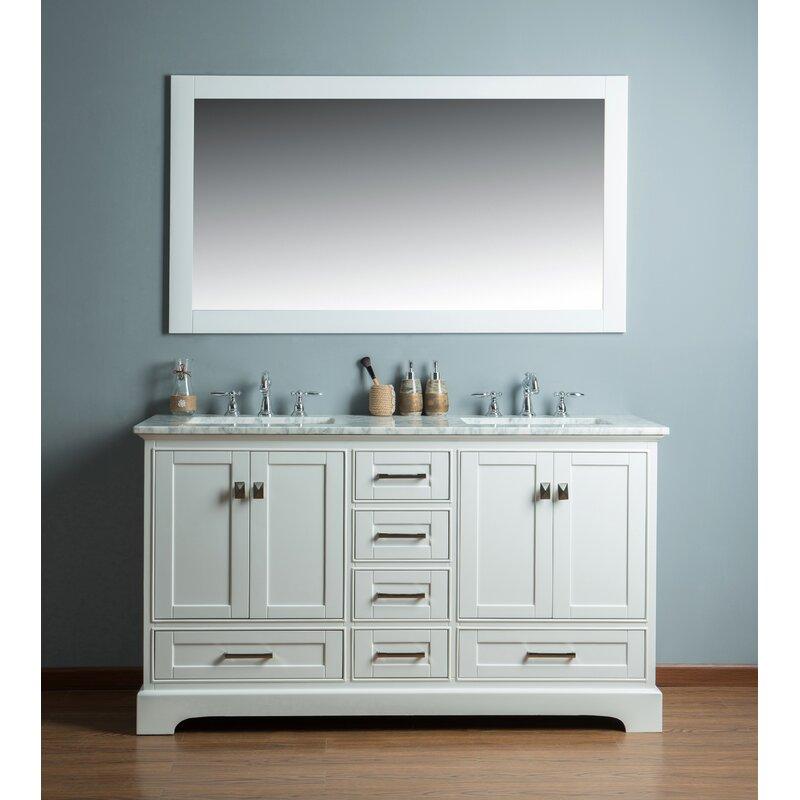 Willa Arlo Interiors Stian 60 Double Sink Bathroom Vanity Set