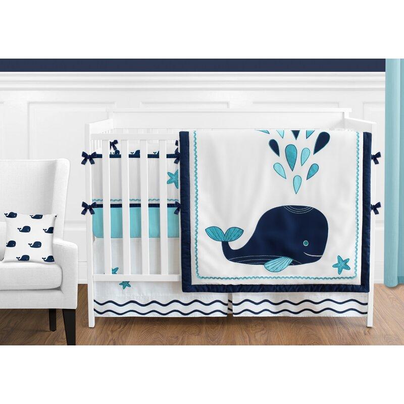 Sweet Jojo Designs Whale 9 Piece Crib Bedding Set Reviews Wayfair