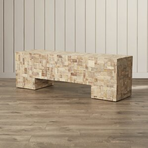 St. Lucie Wood Bench by Rosecliff Heights