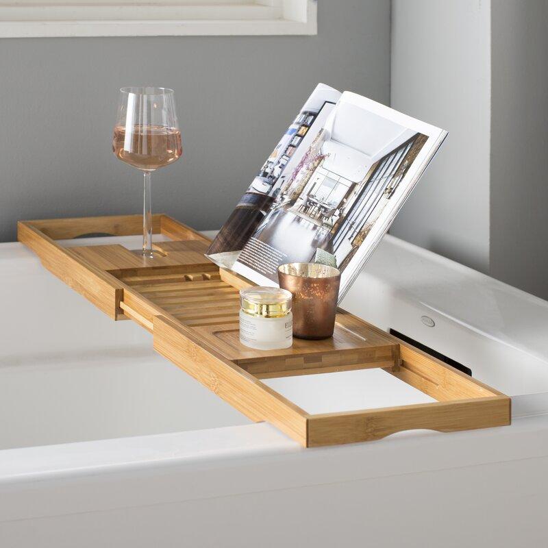 Rebrilliant Bamboo Bath Caddy Reviews Wayfair