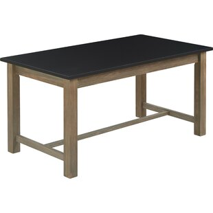Finch Elmhurst Dining Table, Black and Weathered Grey