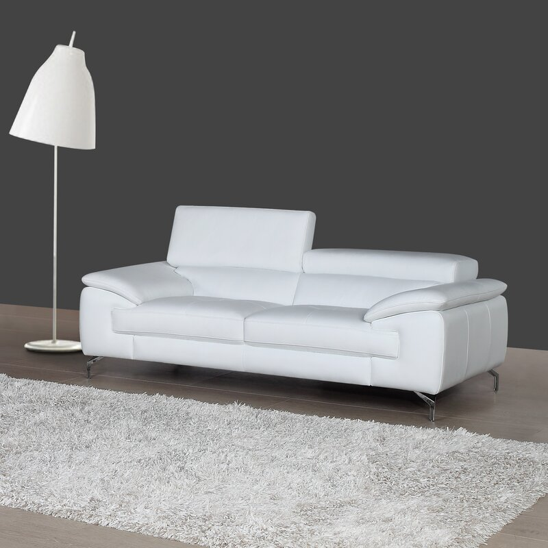 Superbe Gideon Italian Leather Sofa