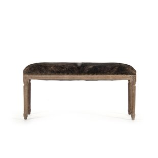 Good Arwood Cowhide Leather Bench