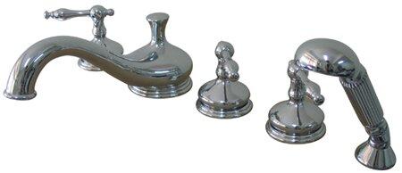 Heritage Double Handle Deck Mount Roman Tub Faucet