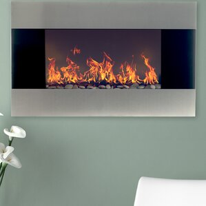 Carey Wall Mount Electric Fireplace  Wall Electric Fireplace