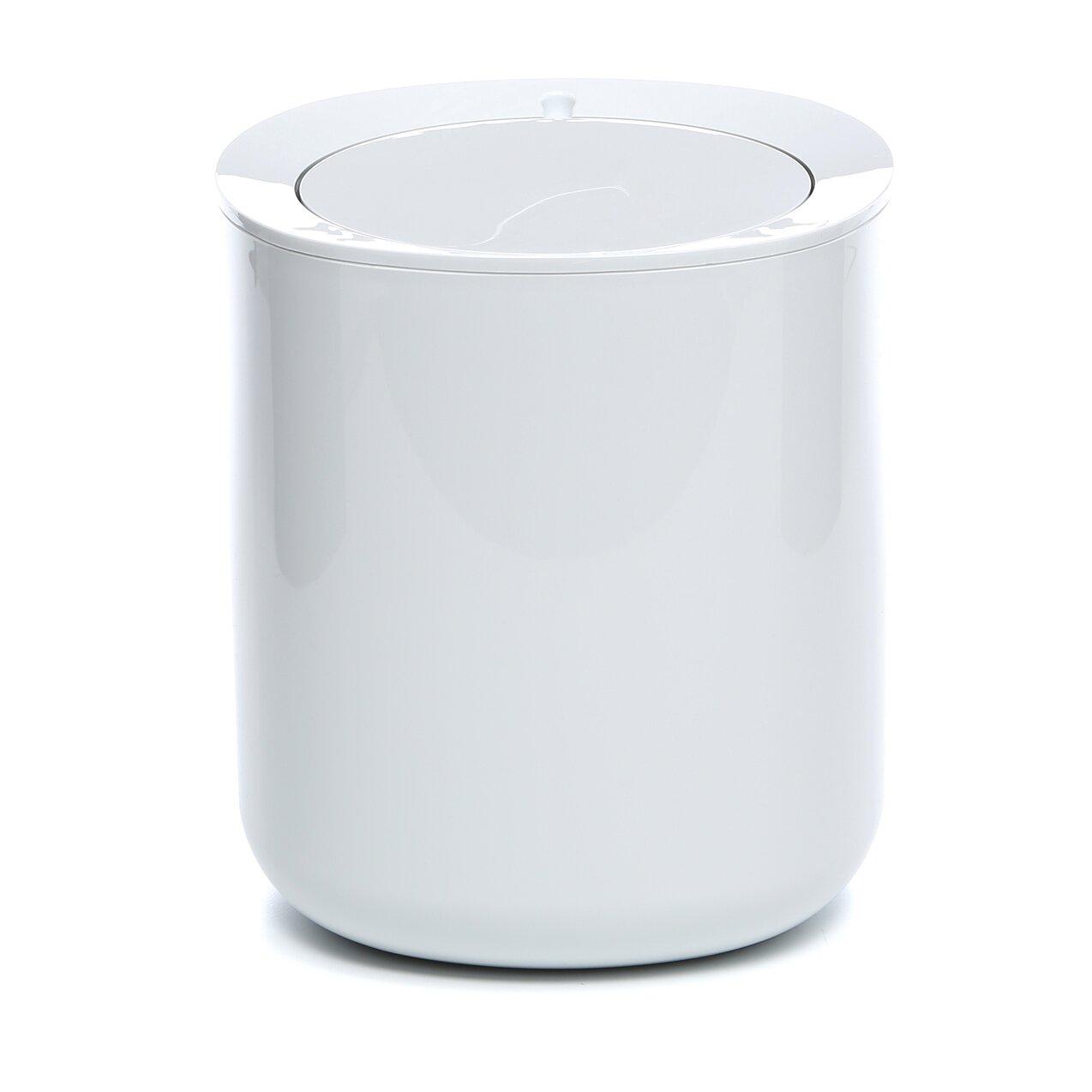 birillo bathroom 1 gallon swing top trash can reviews allmodern. Black Bedroom Furniture Sets. Home Design Ideas