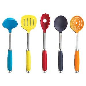 gold kitchen utensils. 6 piece utensil set with crock gold kitchen utensils s
