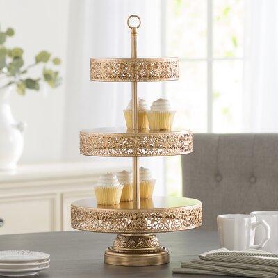 find cake tiered stands for your kitchen wayfair. Black Bedroom Furniture Sets. Home Design Ideas