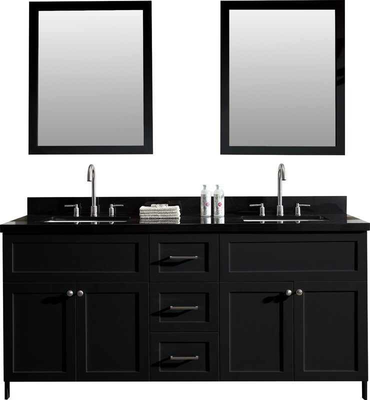"Double Bathroom Vanity Photos ariel bath hamlet 73"" double bathroom vanity set & reviews 