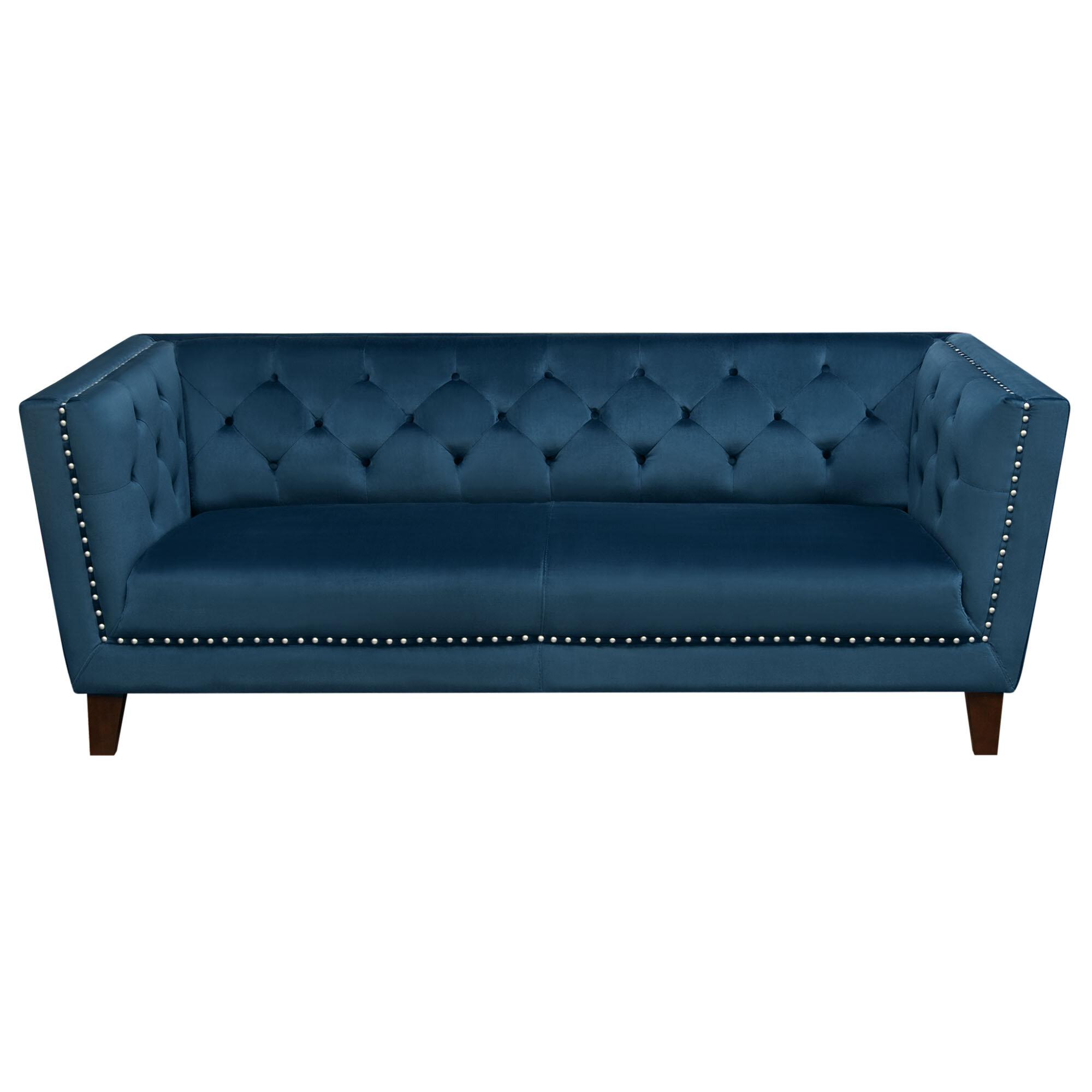 Beau Diamond Sofa Grand Tufted Back Standard Sofa | Wayfair